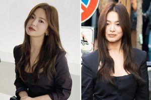 Song Hye Kyo tô son đậm, ngồi hàng ghế đầu dự show thời trang ở Italy