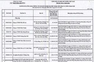 Lâm Đồng gọi tên hàng chục doanh nghiệp chây ỳ nợ thuế