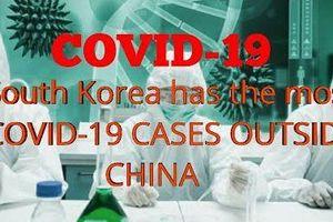 Số ca nhiễm Covid-19 ở Hàn Quốc tăng từng đêm, 1 ca tử vong mới, số người nhiễm bệnh cao nhất ngoài Trung Quốc