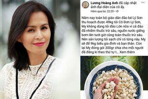 Xử phạt 12,5 triệu đồng Facebook Lương Hoàng Anh tung tin sai về tỏi Lý Sơn