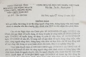 Nhiều lãnh đạo ở Hà Tĩnh thi trượt chuyên viên chính