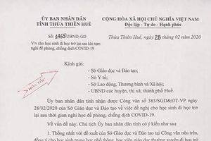 Nhiều trường học tại Huế cho học sinh trở lại trường sau thời gian tạm nghỉ phòng dịch