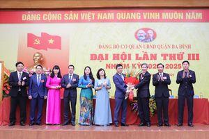 Cơ quan UBND quận Ba Đình tổ chức đại hội điểm cấp cơ sở