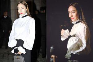 Jessica Jung nổi bật với phong cách quý cô cổ điển tại show Hermes