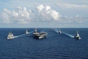 Các thành phần của nhóm tác chiến tàu sân bay USS Theodore Roosevelt