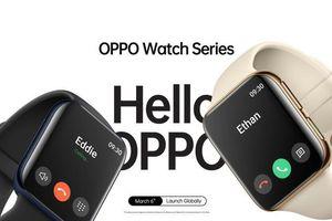 OPPO Watch trình làng, giống Apple Watch, hỗ trợ eSim, sạc nhanh