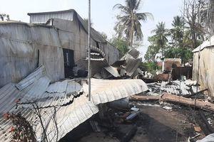 Cháy 7 căn nhà ở huyện biên giới An Giang