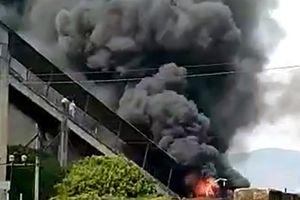 Hỏa hoạn tại Nhà máy xi măng Sông Đà (Gia Lai)