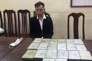Bắt đối tượng vận chuyển hơn 6 kg ma túy về Hà Nội