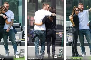 Vợ chồng Beckham dẫn con đi đá bóng giữa mùa dịch, ôm hôn đắm đuối