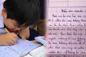 Cậu bé lớp 4 viết tâm thư gửi bố mẹ, nội dung mới khiến mọi người không khỏi xót thương