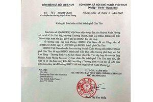 Khẩn trương giải quyết Bảo hiểm xã hội cho đồng chí Huỳnh Xuân Phong