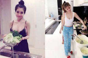 Thời trang vào bếp của mỹ nhân Việt: Elly Trần càng ngắm càng hoa mắt