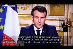 Tổng thống Pháp kêu gọi Eurozone đoàn kết chống dịch COVID-19