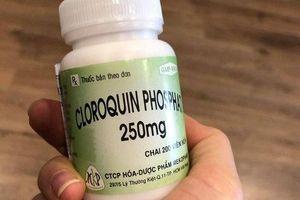 Bộ Y tế: Tuyệt đối không sử dụng thuốc sốt rét để điều trị Covid-19