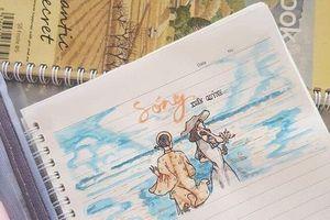 Biến vở văn thành tranh vẽ sống động, nam sinh nhận 'bão like' từ cộng đồng mạng