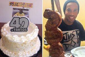 Bị giam trong tù, Ronaldinho vẫn có ngày sinh nhật tuổi 40 cực đặc biệt