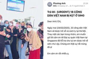 Covid-19: 37 công dân bị mắc kẹt tại sân bay Changi, Singapore đã về nước an toàn