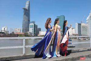 Nhóm Phù sa, diễn viên điện ảnh Đinh Y Nhung lộng lẫy trong áo dài