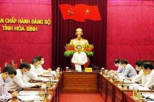 Đồng chí Trần Thanh Mẫn làm việc tại tỉnh Hòa Bình