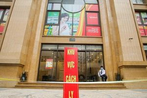 CLIP: Cận cảnh tòa nhà Tân Hoàng Minh có ca bệnh Covid-19 bị cách ly