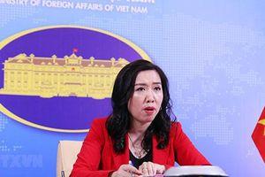 Việt Nam yêu cầu Trung Quốc không có các hành động làm căng thẳng tình hình Biển Đông