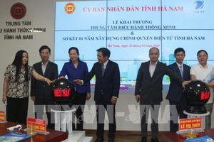Khai trương Trung tâm điều hành thông minh tỉnh Hà Nam