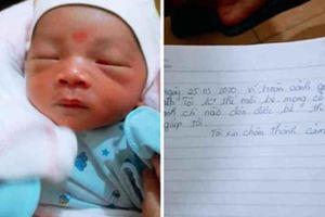 Bé trai sơ sinh bị bỏ rơi cùng 1,1 triệu đồng và bức thư tay nhờ nuôi giúp