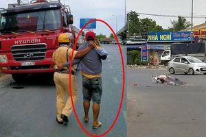 CSGT đuổi theo tài xế container bỏ chạy sau khi gây tai nạn chết người