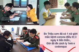 Xử lý 123 người ở Thanh Hóa phao tin về dịch COVID-19