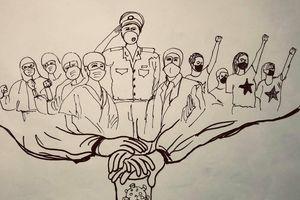 Họa sĩ 9X vẽ tranh kêu gọi đoàn kết chống đại dịch