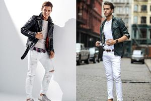 Phá giải nỗi lo nữ tính cho các chàng trai khi mặc quần trắng