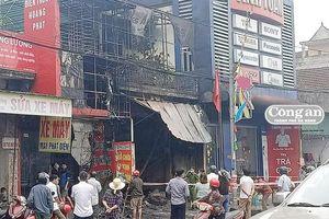 Cháy cửa hàng kinh doanh thiết bị ô tô, 2 ông cháu tử vong