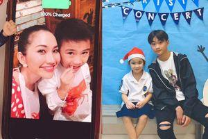 Con trai Kim Hiền ngày càng điển trai, nam tính sau 5 năm cùng mẹ sang Mỹ định cư