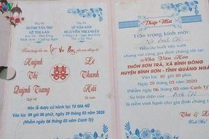 Hoãn đám cưới tới 2 lần để phòng dịch Covid-19