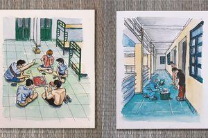 Loạt tranh nghệ thuật tái hiện cuộc sống cách ly của chàng du học sinh Anh