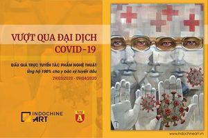 'Lá chắn trắng' - bức tranh gây sốt cộng đồng mạng mùa dịch Covid-19