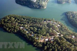 Cưỡng chế công trình xây không phép tại Khu Du lịch hồ Tuyền Lâm