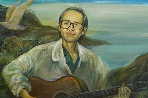 Xem tranh tưởng nhớ nhạc sĩ Trịnh Công Sơn dù đang cách ly