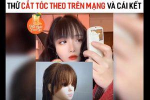 Học cắt tóc trên mạng, hot girl biến 'mái thưa' thành 'mái chó gặm'