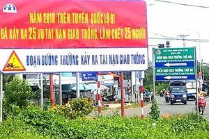Phát huy hiệu quả bảng pano tuyên truyền trên tuyến đường thường xảy ra tai nạn giao thông