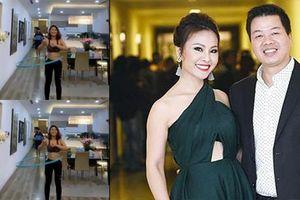 Ca sĩ Đăng Dương nhảy dây bên vợ lắc vòng