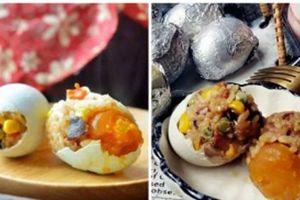 Thấy vợ hì hụi đổ gạo vào vỏ trứng, tưởng nghịch dại ai ngờ có món ngon không tưởng