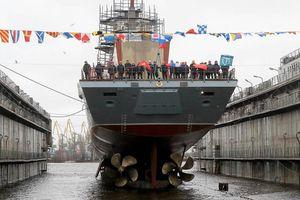 Tàu hộ tống của Nga khoe sức mạnh như vũ bão trong đợt tập trận