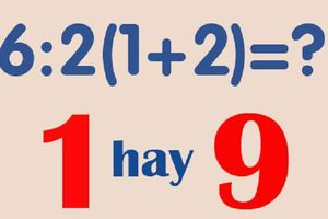 Dân mạng 'cãi nhau' về đáp án bài toán tiểu học