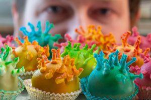 Bánh hình virus corona đem tới nụ cười ở Đức