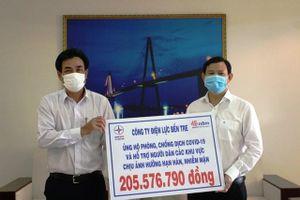 PC Bến Tre ủng hộ hơn 200 triệu đồng phòng chống dịch và hạn, mặn