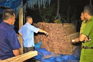 Phát hiện xưởng cưa không phép tập kết hơn 12m3 gỗ lậu
