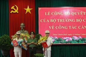 Thừa Thiên Huế bổ nhiệm 2 Phó giám đốc Công an tỉnh