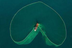 Bức ảnh người dân tung lưới đánh cá ở Phú Yên đầy mê hoặc được báo nước ngoài đăng tải và ca ngợi hết lời